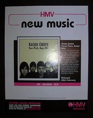 Kaiser Chiefs Yours Truly, Angry Mob 2006 Poster Type Advert, Promo Ad Pin Up