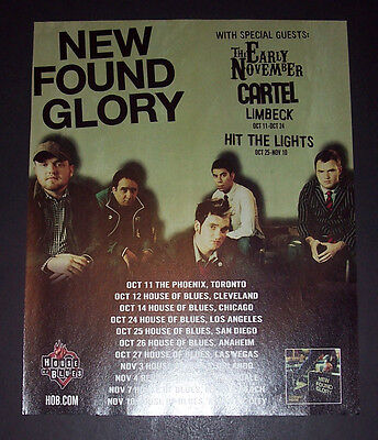 New Found Glory Coming Home Tour 2006 Small Poster Type Advert, Promo Ad