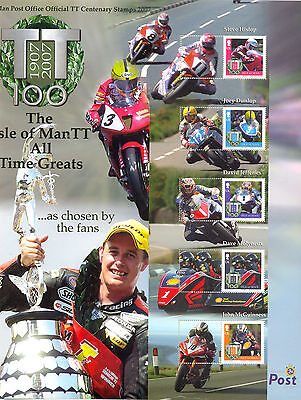 Isle of Man 2007 TT Races LARGE sheets(2) different perf and Smaller stamps mnh