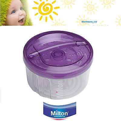 Milton Combi Steriliser Microwave or Cold Water Travel Baby 5 Bottle Purple New