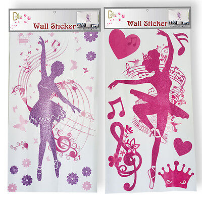 NEW Wall Stickers Dancing Ballerina  PINK