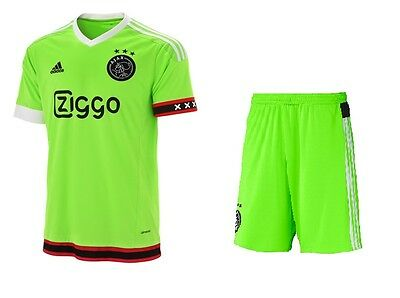adidas AJAX Away  FOOTBALL KIT Shirt and Shorts Children BNWT  Season  2015-16