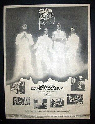 Slade Flame 1974 Poster Type Advert, Promo Ad