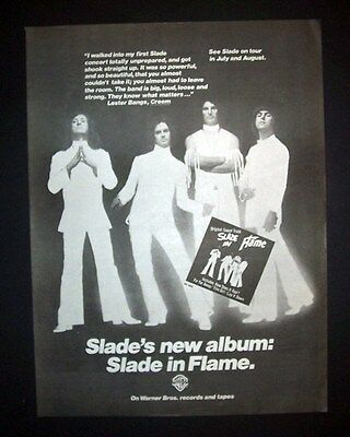 Slade In Flame 1975 Short Print Poster Type Ad Promo Advert