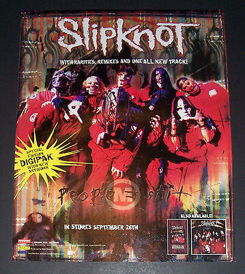 Slipknot 2000 Small Poster Type Advert, Promo Ad