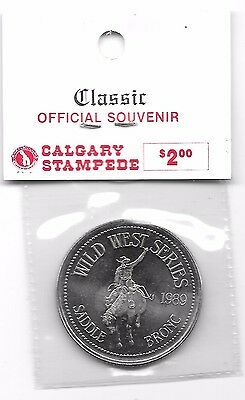 1989 Calgary Stampede $1 Coin, Salute To Saddle Bronc