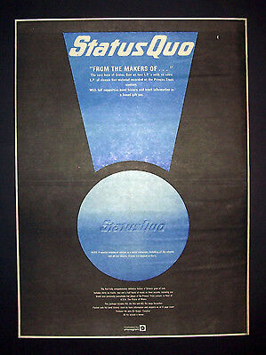 Status Quo From The Makers Of... 1982 Poster Type Ad Promo Advert