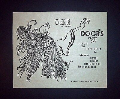 The Doors Olympia Stadium 1969 Detroit Small Concert Ad, Promo Advert