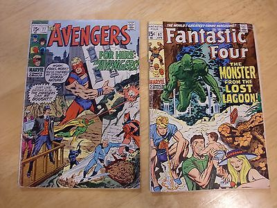 The Avengers 77, and Fantastic Four 97, Marvel Comics