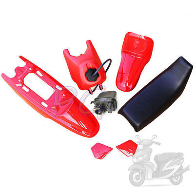 Red Oem New Peewee Py Pw50 Plastics Seat Tank Air Filter Motocycle