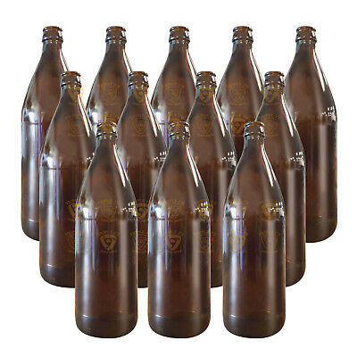 750ml 12 PCs Amber Beer Crown Top Bottle Home Brew 55554