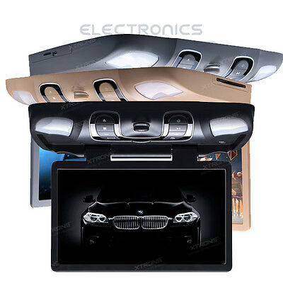 """Car Overhead Ceiling Roof Mount Monitor DVD Player 15.6"""" Wide Screen USB SD Game"""