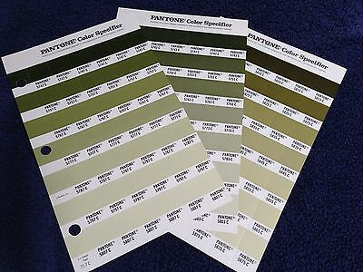 Pantone Color Specifier (3 Sheets)-Refill pages 71.3, 71.7 & 72.5 Greens