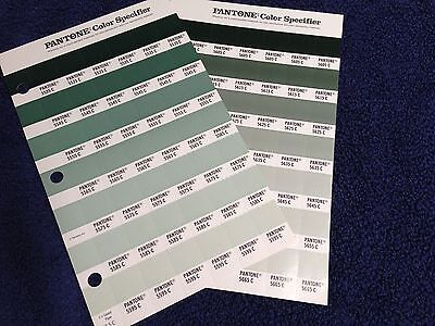 Pantone Color Specifier (2 Sheets)-5535-5595C and 5605-5665C