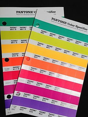 Pantone Color Specifier (2 Sheets)- 100 & 101Refill 808-814C and 808C 2x-814C 2x