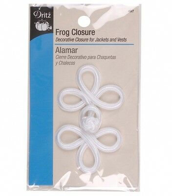 Dritz Frog Closure - White. Delivery is Free