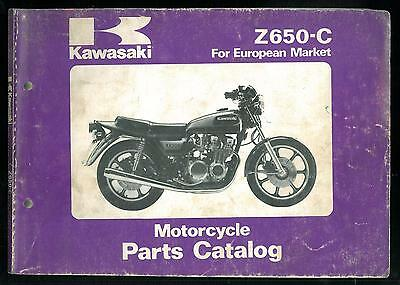 Parts Catalog KAWASAKI Z 650 C4 Catalogue des pièces Manuel Manual - Parts List