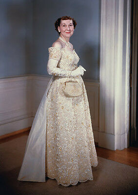 Art print POSTER Mrs. Dwight D. Eisenhower, Inaugral Gown