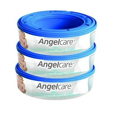 Angelcare Nappy Disposal System Refill Cassettes Pack of 3 Seal Bags Best UK New