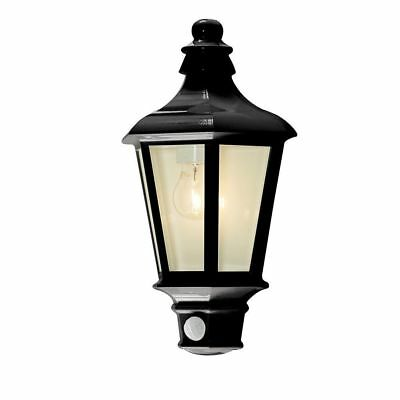 1 Light Outdoor Wall Half Lantern Garden PIR Motion Sensor Anthracite Litecraft