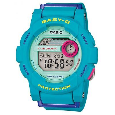 Casio Baby-G Women's Quartz Watch with Digital Display and Resin Strap - Blue