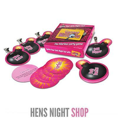 Secret Missions Girls Night Out Hens Party Game Bachelorette Activity