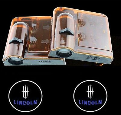 2x Wireless Car LED door Welcome Projector Logo ghost shadow light for Lincoln
