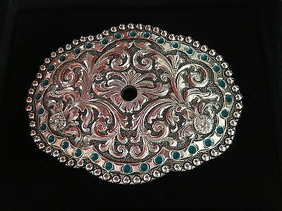 *new* Andwest Scallop Oval Zinc Cast Buckle Western Country Rodeo