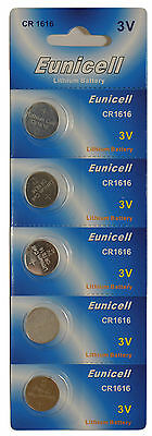 5 x CR1616 BR1616 3V Lithium Button Cell Coin Battery