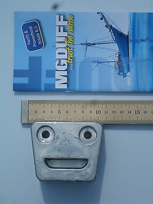ZINC Anode VOLVO PENTA GIMBLE PLATE for SX DRIVE Size 90x80x45mm (Smiley face)