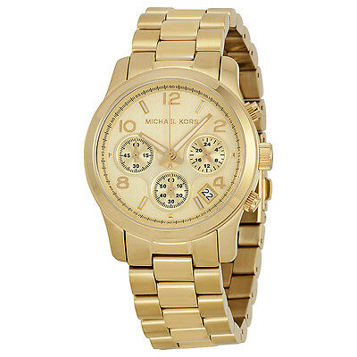 MK5055 Kors Midsized Chronograph Gold-tone Unisex Watch Brand New