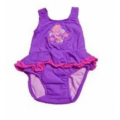 *new* Baby Girls Bathers With Inbuilt Nappy By Bright Bots(Purple)