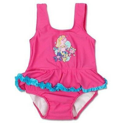 *new* Baby Girls Bathers With Inbuilt Nappy By Bright Bots(Pink)