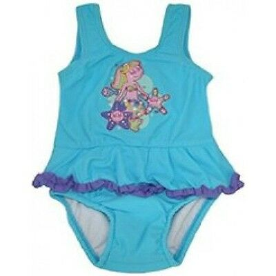 *new* Baby Girls Bathers With Inbuilt Nappy By Bright Bots(Blue)