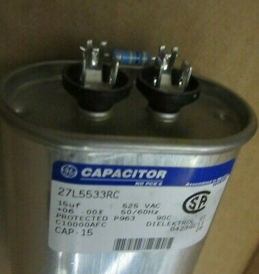 """/""""NEW/"""" 48uF, 330VAC, 50//60Hz General Electric 27L451 Oval Capacitor"""