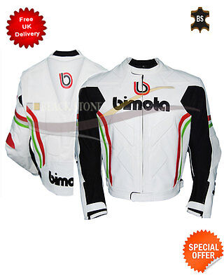 white motorbike leather jacket bimota leather jacket in cowhide leather any size