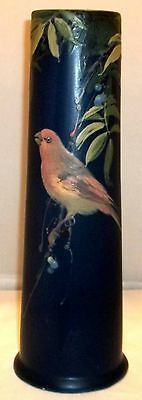 """Large Weller ''Blue and Decorated""""  Vase with Bird"""