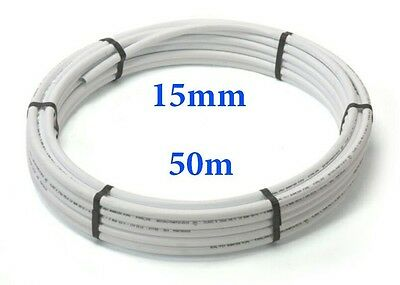 50mx15mm Barrier Pipe plastic plumbing pushfit/Speedfit/Polypipe/Hep alternative