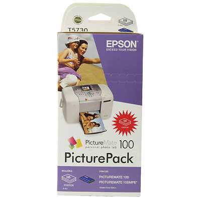 Epson PictureMate 100 Inkjet Cartridge 4-Colour With FOC Paper 135 Sheets 10x15c