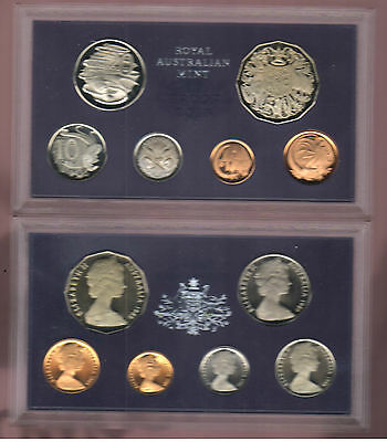 1969 Royal Australian Mint Proof Set of 6 Coins -coins turned no certificate
