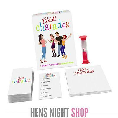 Hens Night Party Adult Charades Game Bachelorette Activity Awesome Fun
