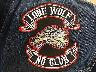 ECUSSON PATCH THERMOCOLLANTS LONE WOLF NO CLUB biker country moto motard chopper