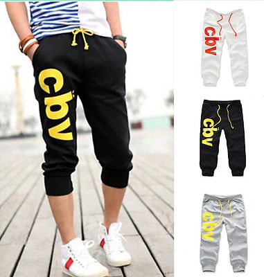 2016 Trousers Jogging Sport Casual Cotton Shorts Pants Men's Gym