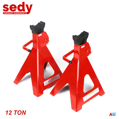 2 Piece Heavy Duty Truck Stands 12 Ton Jack Stand Height Adjustable Vehicle Lift