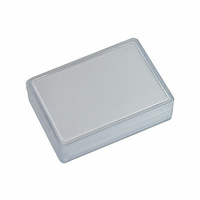 20 pcs clear boxes 38 x 58 x 17 mm with foam material - white