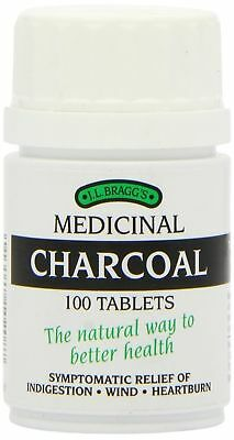 Braggs Charcoal Tablets Lactose Free Natural Relief For Indigestion & Wind X 100