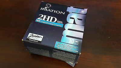 "Imation 3.5"" Double Sided Diskette Disks 1.44MB IBM Formatted 2HD Sealed Box 10"