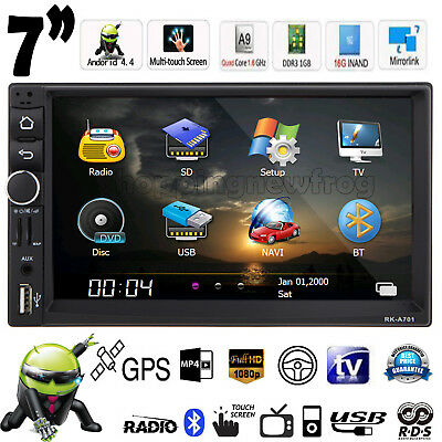 "7"" Double 2din CAR MP3 MP5 Player Radio Quad Core Android 4.4 gps Bluetooth GPS"