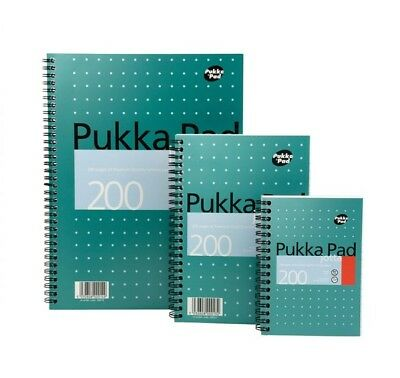 Pukka Pad A4, A5 & A6 Jotta Spiral Bound Notebooks 200 Pages White Ruled