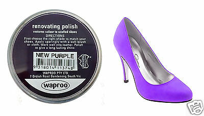 PURPLE Shoe Polish Cream - Restore Colour to Leather SHOES / BOOTS / BAGS WAPROO
